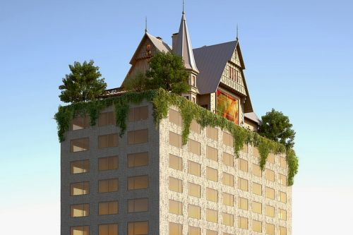 Philippe Starck Designs Hotel Topped By 18th Century-Style House