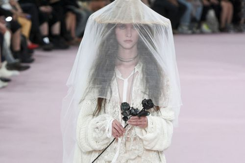 Ann Demeulemeester SS19 Delivered a Goth Wedding