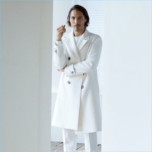 All-Time Man: Guillaume Macé Models Monochromatic Fashions for Zara