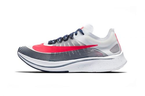 "Nike Zoom Fly SP Welcomes a Patriotic Mix of ""White/Flash Crimson-Metallic Silver"""