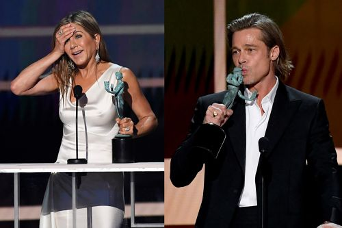 Jennifer Aniston and Brad Pitt both take SAG Awards 2020 stage