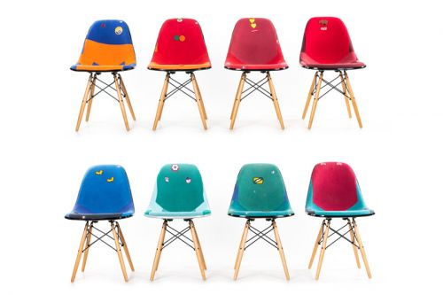 Dr. Romanelli & Modernica Team up for a Set of Chairs Made from Vintage Champion Sweatshirts