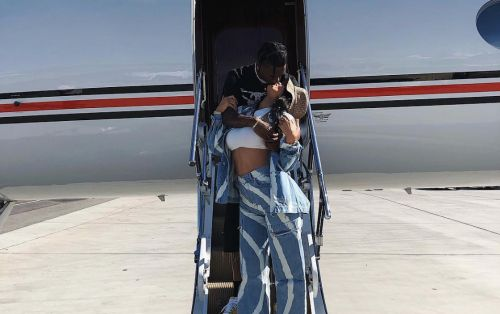 Kylie Jenner And Travis Scott Get Romantic On Their Way To Coachella