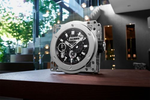 Hublot Scales Up Its MECA-10 Movement Into a $50,000 USD Skeletonized Clock
