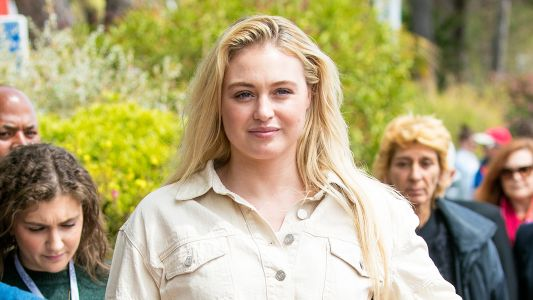 Iskra Lawrence Puts Her Toned Tummy on Display in White Crop Top Jacket at Cannes Film Festival