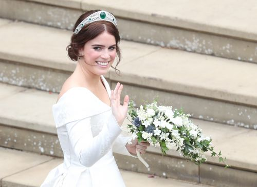 Princess Eugenie Dons Stunning Tiara From Queen Elizabeth's Collection At Her Royal Wedding