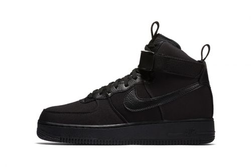 "Nike Gives the Air Force 1 High Canvas the ""Triple Black"" Treatment"