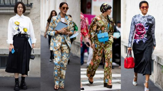 Unconventional Florals Ruled the Streets on Day 1 of Milan Fashion Week