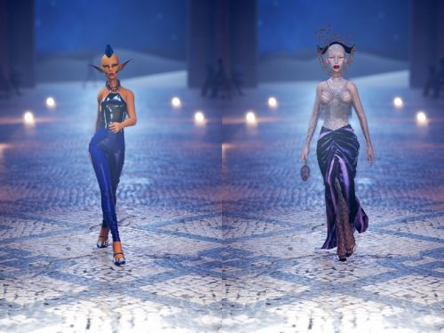 Go BTS of the virtual, otherworldly beauty at GCDS's digital fashion show