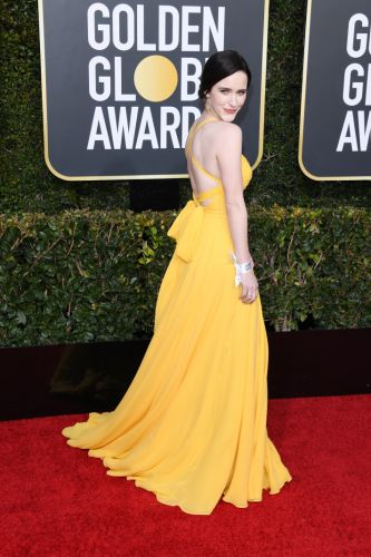 Rachel Brosnahan Sports 2019's Yellow Color Trend on the Golden Globes Red Carpet