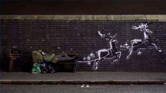 Banksy unveils mural highlighting homelessness in Birmingham