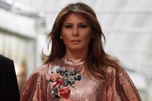 Melania sparkles in a $5.5K New Year's dress