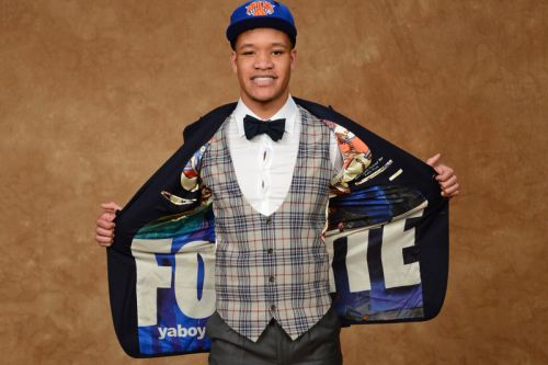 Kevin Knox Wore a 'Fortnite' Suit to the NBA Draft