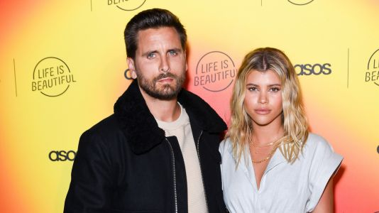 Sofia Richie Swoons Over Photo of Suavely-Dressed Scott Disick and Their Pup Hershela: 'Obsessed'