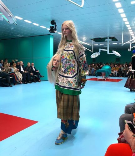 A model just carried her own severed head at the Gucci show