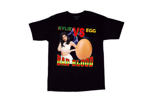 "PizzaSlime Drops Comical ""Kylie vs. Egg"" T-Shirt"
