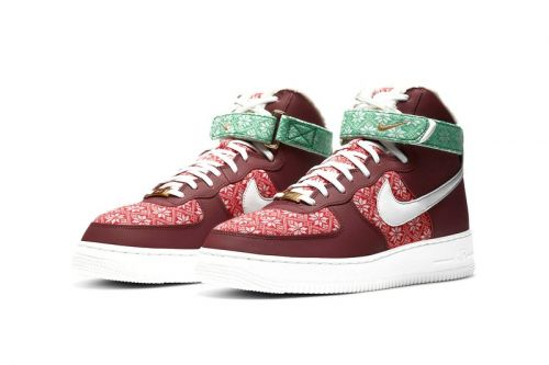 Who Wants Nike's Christmas Sweater-Themed Air Force 1 Hi Under Their Tree?