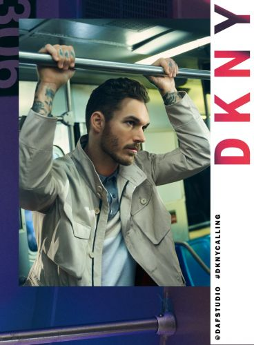 David Alexander Flinn Takes to NYC Subway for DKNY Spring '20 Campaign