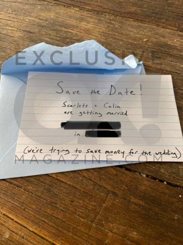Scarlett Johansson Weds Colin Jost-OK! Has The Handwritten Save-The-Date: See Photo