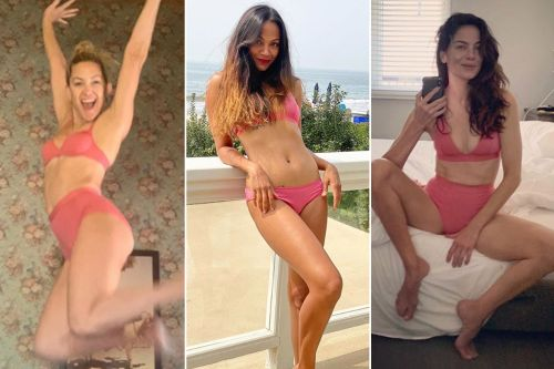 Kate Hudson, Zoe Saldana and more stars pose in their underwear for a good cause