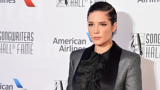 Halsey Just About Made Us Pass Out in a Glittered Tux While Accepting an Award From the Songwriters Hall of Fame