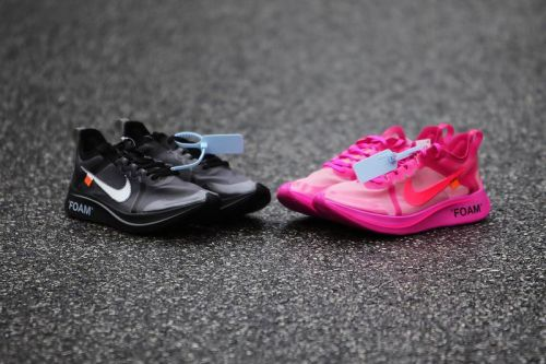 "Take a Closer Look at the Off-White™ x Nike Zoom Fly SP ""Pink"" & ""Black"""