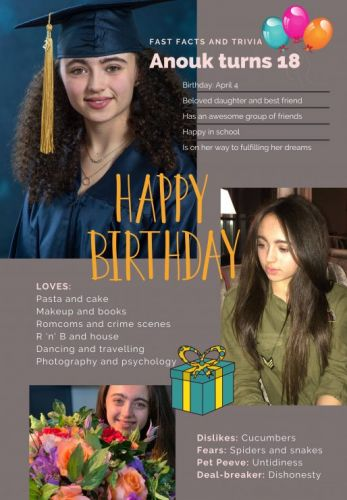 Happy 18th Birthday to My Daughter!