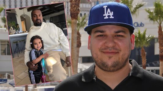 Dream Kardashian Loves Her Uncle Kanye! See the Precious Pic Rob Kardashian Shared