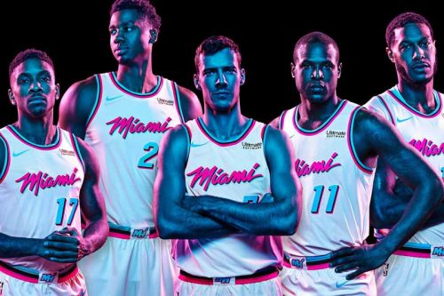 "The Heat Unveil Their 'Miami Vice'-Inspired ""City Edition"" Jerseys"