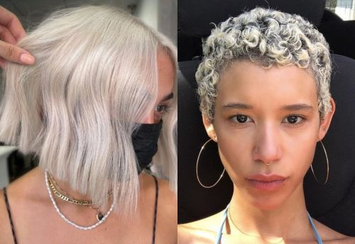 Smokey Ice Is The Coolest Fall Hair Color Trend - Literally