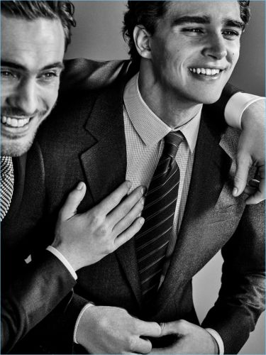 Pepe Barroso & Maxime Daunay Suit Up for Giorgio Armani Made to Measure Campaign