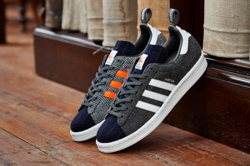 Size? Adds Heritage Fox Brothers Materials to adidas Originals Campus 80