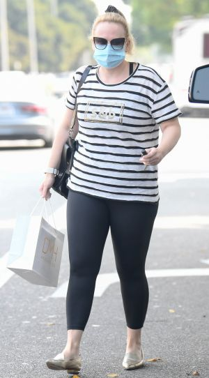 Rebel Wilson Looks Fit and Fashionable While Stepping Out in Leggings and a Cute T-Shirt