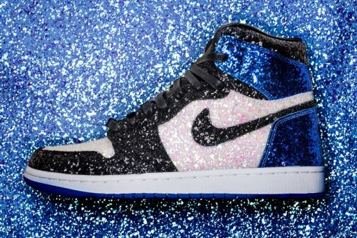 "The Shoe Surgeon Crafts fragment design x Air Jordan 1 ""Glitter"" Customs for Paris Fashion Week"