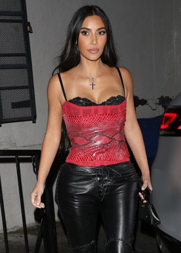 Kim Kardashian Steps Out in Sexy Snakeskin Corset During a Night Out in L.A. Amid Kanye West Divorce
