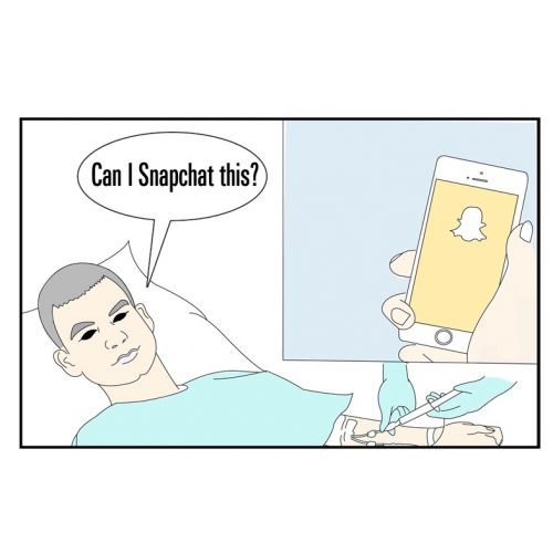 Fashion Weak: hospital beds were made for Snapchat