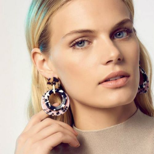 Set Aside Your Studs Because Big Acrylic Earrings Are In Again