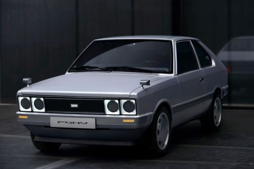 Hyundai Gives Its Iconic 1975 Pony a Cyberpunk-esque Electric Makeover