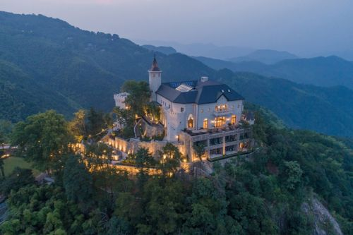 The naked Castle Is a Luxury Resort in a Converted Mountaintop Castle