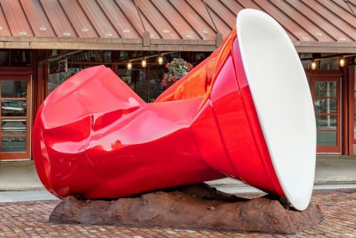 A 10-Foot-Tall Red Solo Cup Has Been Erected in Milwaukee