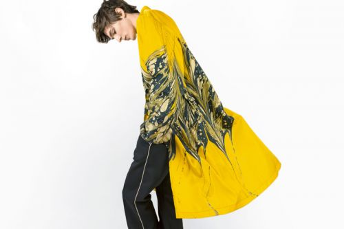 Dries Van Noten Crafts Handmade Marble-Printed Raincoats