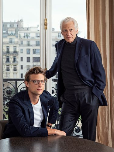 Former French Prime Minister Dominique de Villepin and His son, Arthur, Unveil The Three-Storey 'Villepin' Fine Art Gallery