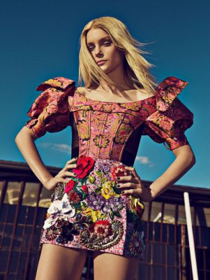 Jessica Stam in Dolce&Gabbana for Woman Madame Figaro Spain