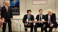 Paul Rudd, Jimmy Fallon And James Corden Are The Mean Girls Of NATO On 'SNL'
