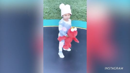 Elmo's World? More Like True's World! Watch Khloé's Daughter Dance With the 'Sesame Street' Character