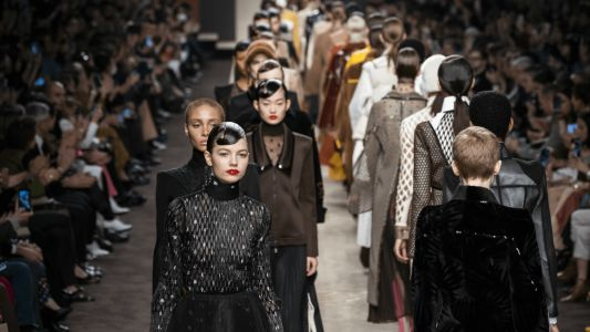 Karl Lagerfeld Lives on Through His Final Collection for Fendi, Fall 2019