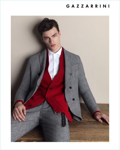 Filip Hrivnak Inspires in Chic Styles for Gazzarrini Fall '18 Campaign