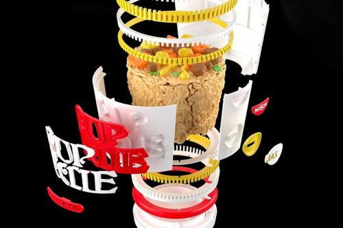 Bandai SPIRITS and Nissin Put Together a Plastic Cup Noodle Model