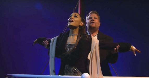WATCH: Ariana Grande And James Corden Team Up For EPIC 'Titanic' Musical