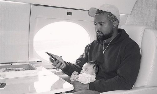 Kim Kardashian Shares Rare Precious Moment Between Her Mini-Me Chicago And Daddy Kanye West